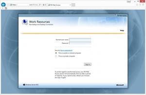 Default RD Web Page