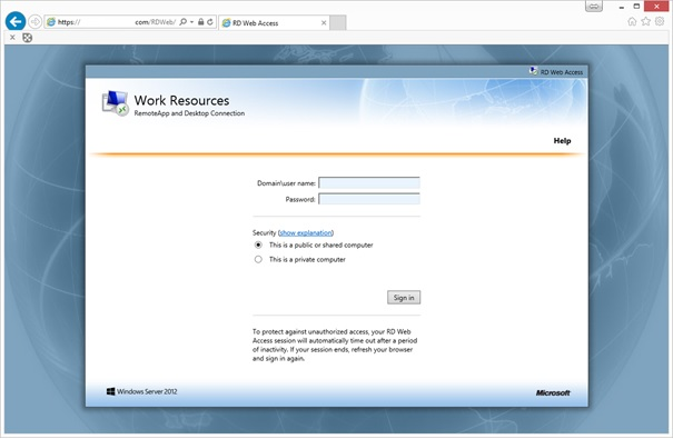 Customise RD Web Page (RDS Server 2012 / 2012 R2) | IT Blog