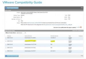 VMware Compatability Guide HP NC550SFP