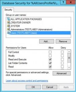 Sécurité de la base de données pour le gestionnaire de serveur.lnk